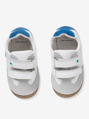 Vertbaudet Collection-Shoes-Baby Boys' Trainers in Soft Leather