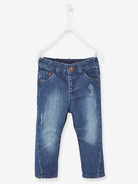 Trousers-Baby Boys' Torn Jeans