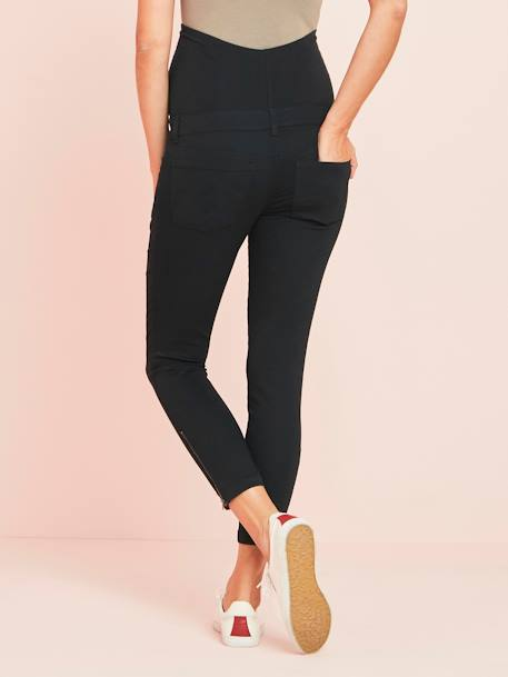 Slim Fit 7/8 Maternity Trousers with Zip, Inside Leg 30' BEIGE LIGHT SOLID+BLACK DARK SOLID+BLUE MEDIUM SOLID+RED MEDIUM SOLID - vertbaudet enfant