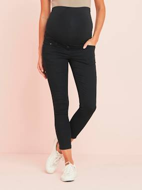 Maternity-Trousers-Slim Fit 7/8 Maternity Trousers with Zip, Inside Leg 30""