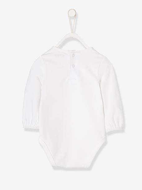 Occasion-wear Bodysuit for Newborn Babies WHITE LIGHT SOLID - vertbaudet enfant