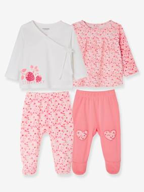 Baby outfits-Pack of 2 Sets of 2-Piece Baby Pyjamas, in Cotton