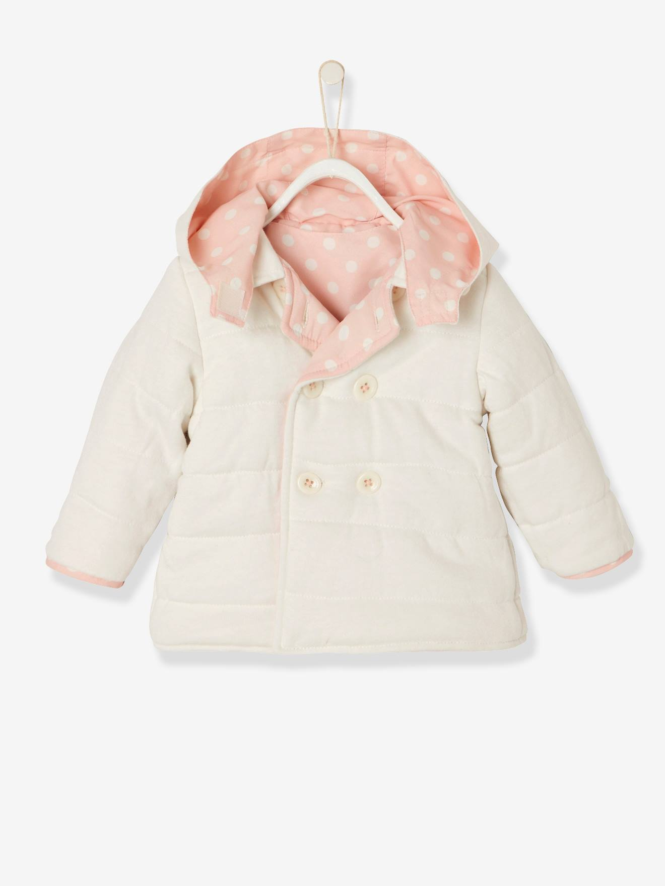 Baby Girls  Reversible Coat - pink light all over printed … 684ac1b32