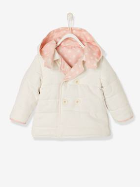 Coat & Jacket-Baby Girls' Reversible Coat
