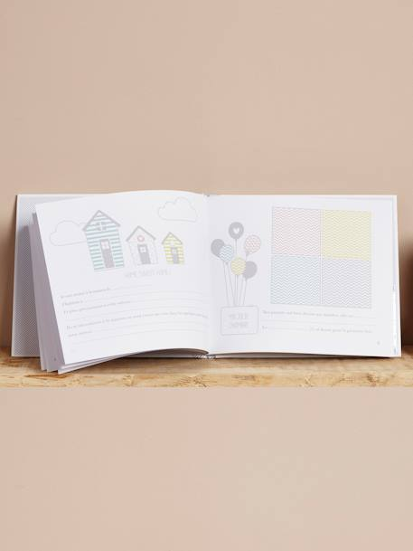 Baby Album WHITE MEDIUM SOLID WITH DESIGN - vertbaudet enfant