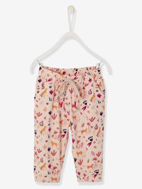 Baby-Trousers & Jeans-Baby Girls' Printed, Loose-Fitting Trousers