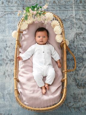Organic collection-Knitted Jumpsuit for Newborn Babies in Organic Cotton