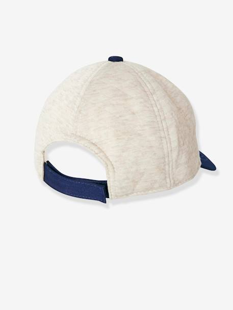 Boys' Padded Cap + Patch WHITE MEDIUM SOLID - vertbaudet enfant