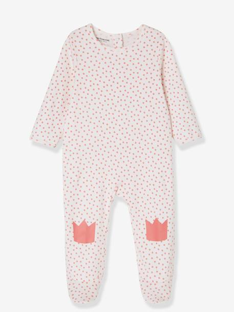 Babies' Pack of 2 Cotton Pyjamas, Press-studs on the Back WHITE LIGHT TWO COLOR/MULTICOL - vertbaudet enfant