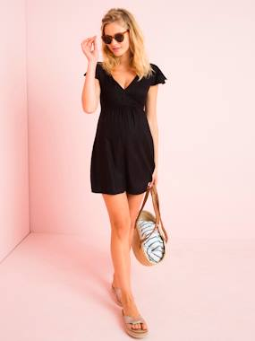 Vertbaudet Sale-Maternity-Short Maternity Playsuit