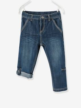 Indestructible Trousers-Boys' Indestructible Cropped Denim Trousers, Convertible into Bermuda Shorts