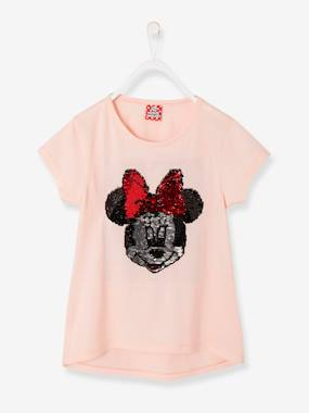 Vertbaudet Collection-Girls-Girls' Minnie® T-Shirt with Reversible Sequins