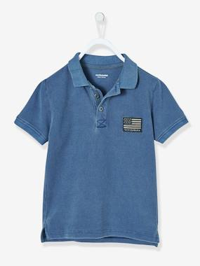 Outlet-Boys' Faded-Effect Polo Shirt
