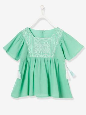 Outlet-Girls-Blouses, Shirts & Tunics-Girls' Crepon Blouse