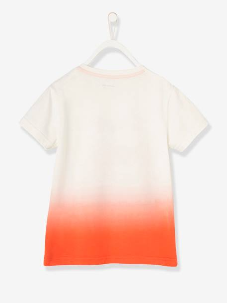 Boys' T-Shirt ORANGE BRIGHT SOLID WITH DESIG - vertbaudet enfant