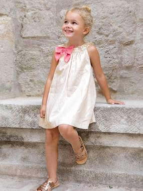 Vertbaudet Collection-Girls' Dress with Decorative Bow