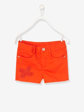 Vertbaudet Collection-Girls' Embroidered Shorts