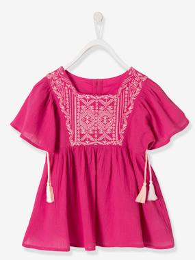 Girls-Blouses, Shirts & Tunics-Girls' Crepon Blouse