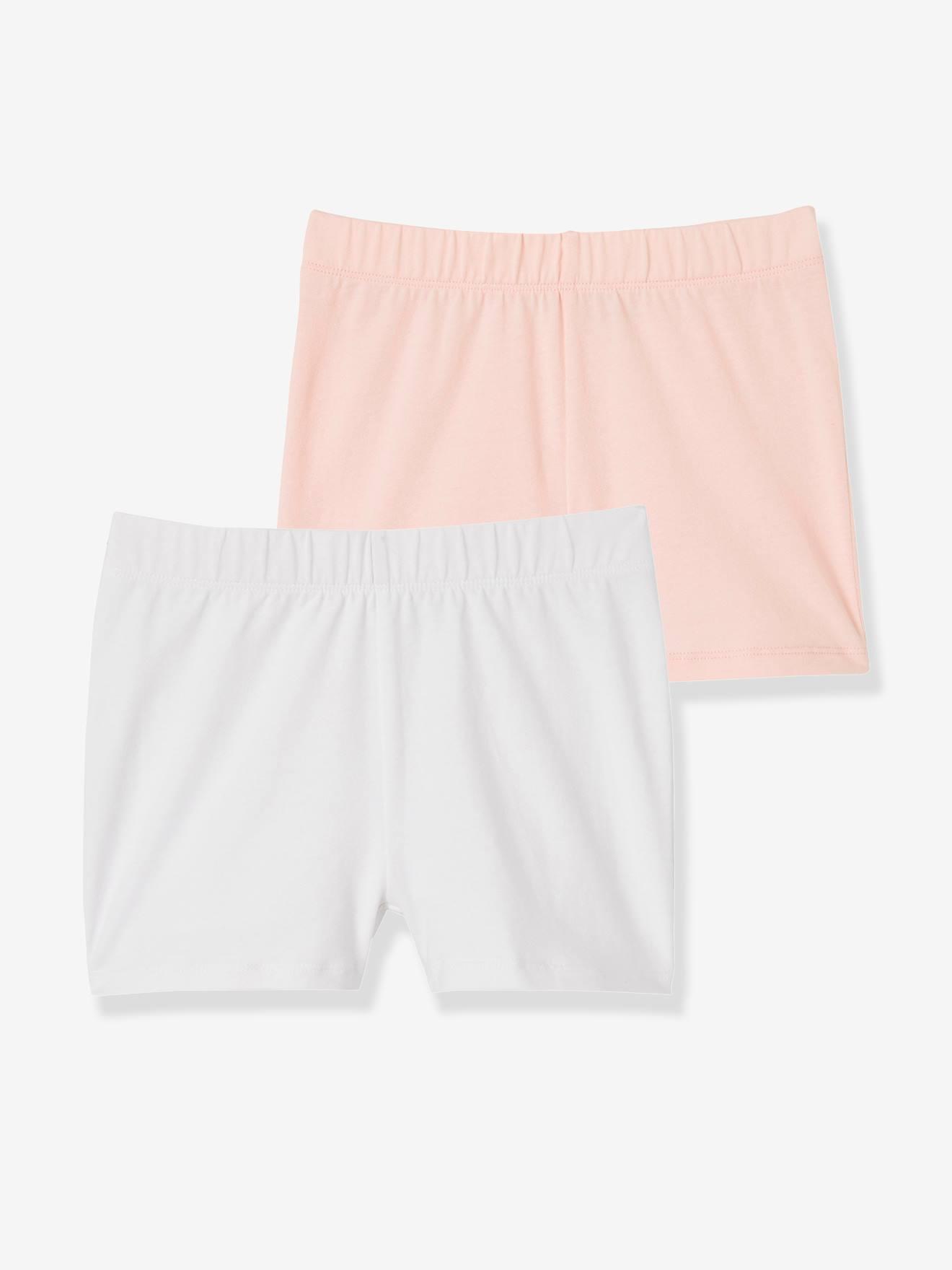 Lot de 2 shorts fille à porter sous robe