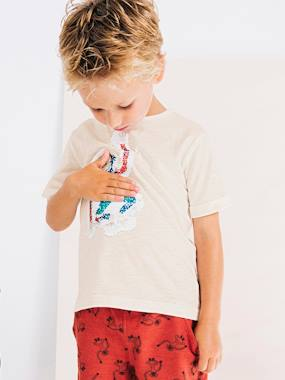 Boys-Tops-T-Shirts-Boys' Printed T-Shirt with Reversible Sequins
