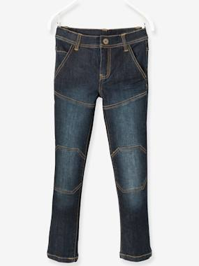 Boys-Jeans-Boys' Slim Fit Jeans, Breathable Denim