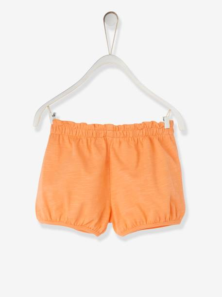 Baby Girls' Jersey Knit Shorts BLUE MEDIUM SOLID+GREY LIGHT MIXED COLOR+ORANGE MEDIUM SOLID+PINK BRIGHT SOLID+WHITE LIGHT SOLID - vertbaudet enfant