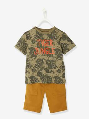 Boys-Tops-Boys' T-shirt + Bermuda Shorts Outfit