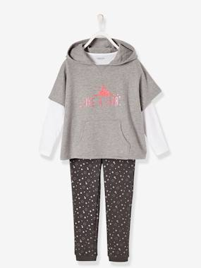 Fille-Ensemble-Ensemble fille sweat + T-shirt + pantalon