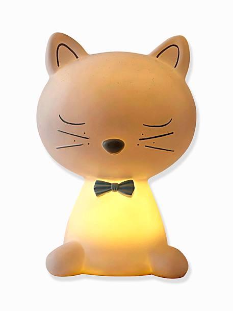 Cat bedside lamp white vertbaudet enfant