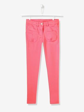 Vertbaudet - Trousers girls boys and babys-Girls Slim Cut Indestructible Trousers