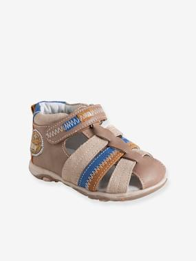 Shoes-Baby Footwear-Baby Boy Walking-Sandals-Boys Leather Sandals With Touch N Close Fastening