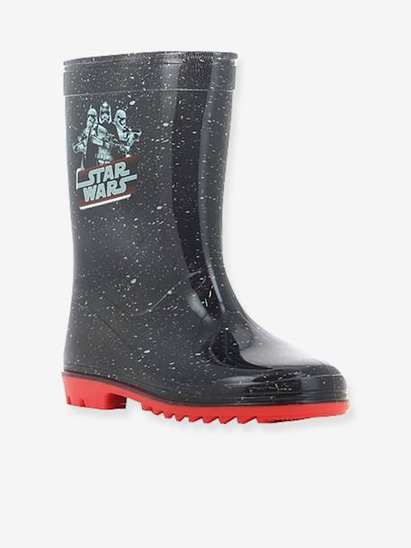 Boys' Wellies, Star Wars® Theme BLACK DARK ALL OVER PRINTED - vertbaudet enfant
