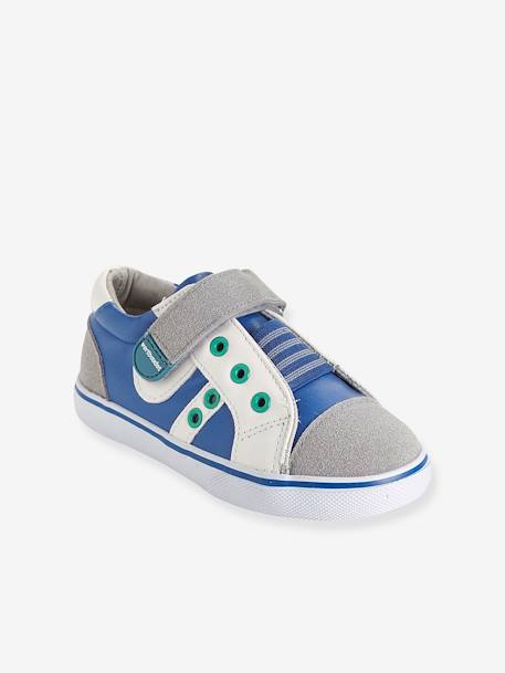 Boys' Leather Trainers, Designed for Autonomy Blue - vertbaudet enfant