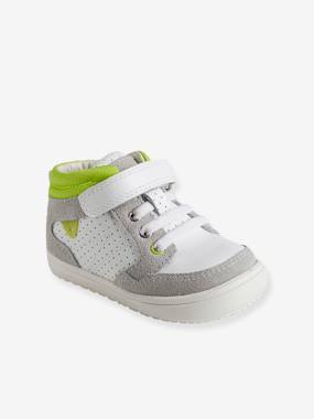 Outlet-Shoes-Boys' High-Top Trainers, in Leather