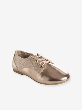 Outlet-Shoes-Girls' Derby Shoes with Glittery Detail