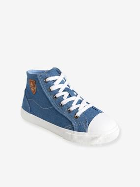 Shoes-Boys Footwear-Boys' Denim High-Top Trainers