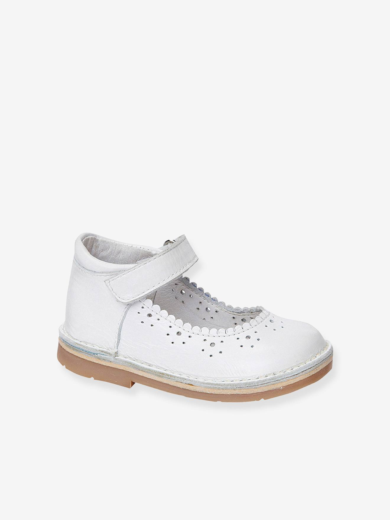 Baby Girls Leather Mary Jane Shoes With Touch N Close Tabs Shoes