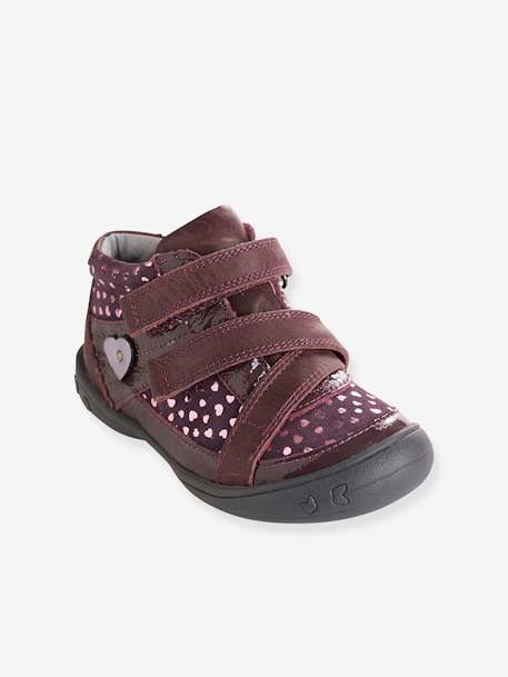 Bottines cuir fille collection maternelle MARINE+Noir+Violet - vertbaudet enfant
