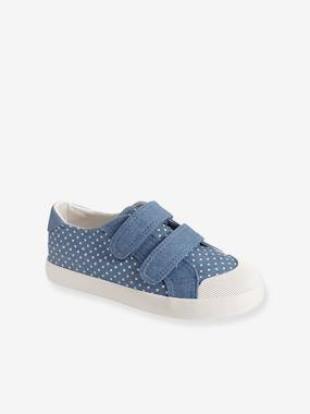 Vertbaudet Collection-Shoes-Girls' Fabric Trainers with Touch 'n' Close Fastening Tab