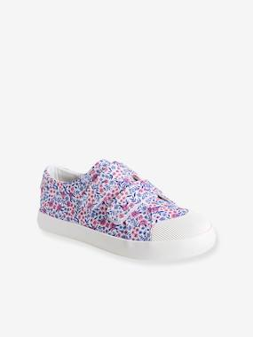 Shoes-Girls Footwear-Trainers-Girls' Fabric Trainers with Touch 'n' Close Fastening Tab