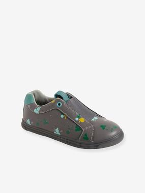 Outlet-Shoes-Boys' Leather Trainers with Elastic
