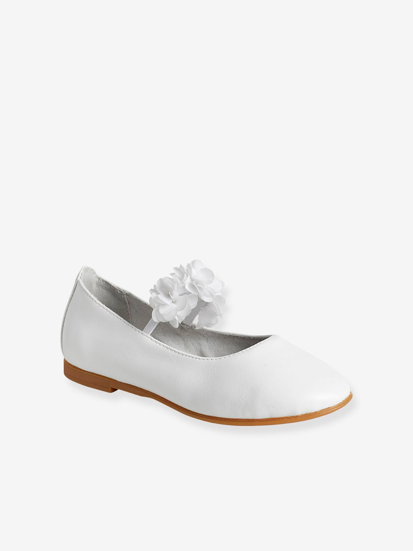 Girls ballerina shoes flowers and tulle white medium metallized girls ballerina shoes flowers and tulle white medium metallized shoes mightylinksfo