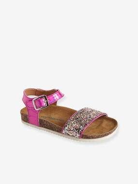 Shoes-Sandales paillettes fille