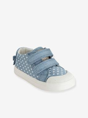 Shoes-Baby Footwear-Baby Girl Walking-Girls Printed Canvas Trainers With Touch N Close Fastening