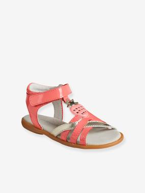Sandals-Girls' Leather Sandals, Autonomy Collection