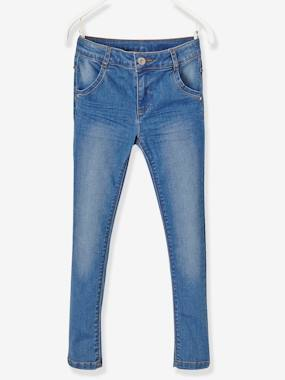 Vertbaudet Collection-Girls-Trousers-NARROW Fit - Girls' Slim Fit Jeans