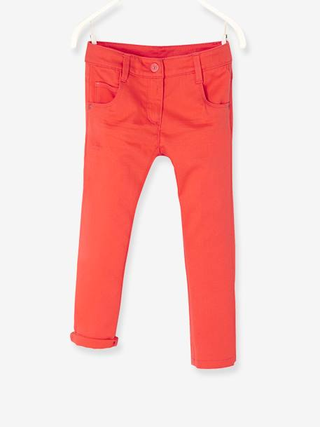 Pantacourt fille stretch Aqua+Blanc+Orange vif - vertbaudet enfant