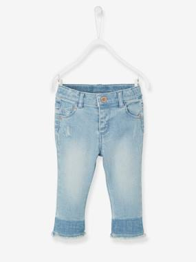 Baby-Trousers & Jeans-Baby Girls' Faded Jeans