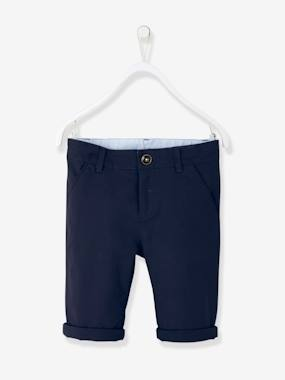 DOLCE VITA - CIAO BELLISSIMA-Boys' Cotton and Stretch Linen Chinos
