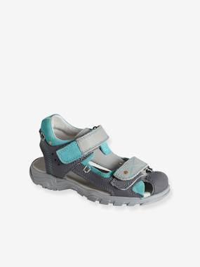 Shoes-Boys Footwear-Sandals-Boys' Leather Sandals with Touch 'n' Close Fastening Tab
